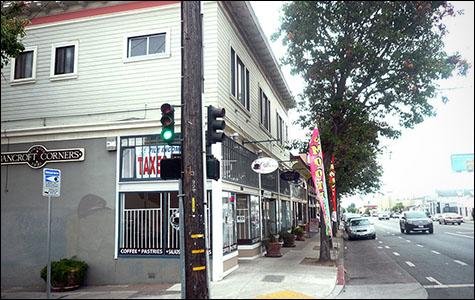 Caffe Nonna on the corner of Bancroft Avenue.