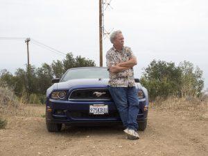 """Hans Laetz and his """"KBU"""" car"""